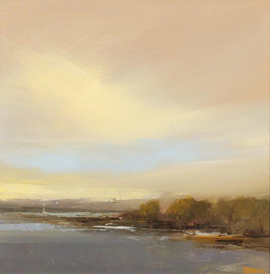 Michael John Ashcroft, MAFA, Original oil painting on panel, Off Shore Escape