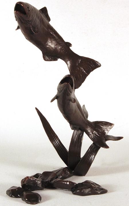 Michael Simpson, Bronze, Salmon Pair Leaping