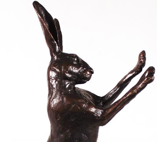 Michael Simpson, Bronze, Medium Hare Boxing Signature image. Click to enlarge