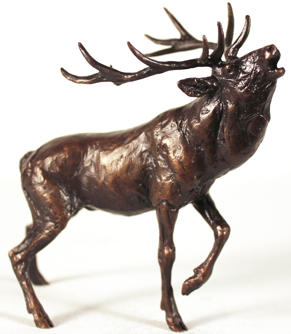 Michael Simpson, Bronze, Stag Roaring. Click to enlarge
