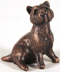 Michael Simpson, Bronze, Westie Sitting Large image. Click to enlarge