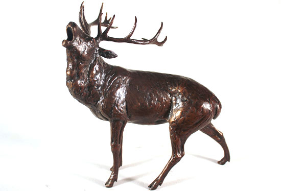 Michael Simpson, Bronze, Roar of the Highlands  Without frame image. Click to enlarge