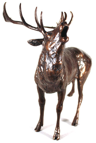 Michael Simpson, Bronze, Roar of the Highlands  Signature image. Click to enlarge