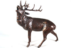 Michael Simpson, Bronze, Roar of the Highlands  Large image. Click to enlarge