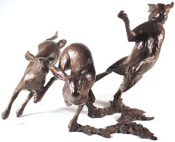 Michael Simpson, Bronze, Running Wild Large image. Click to enlarge