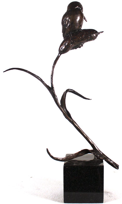 Michael Simpson, Bronze, Kingfisher No frame image. Click to enlarge