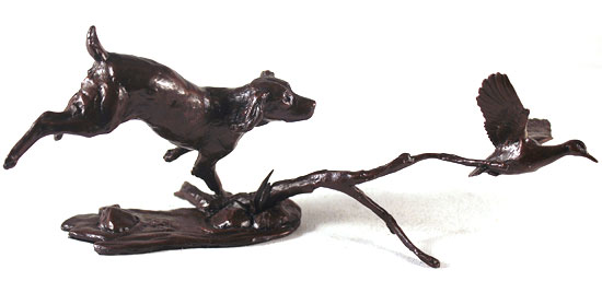 Michael Simpson, Bronze, Cocker Spaniel with Duck