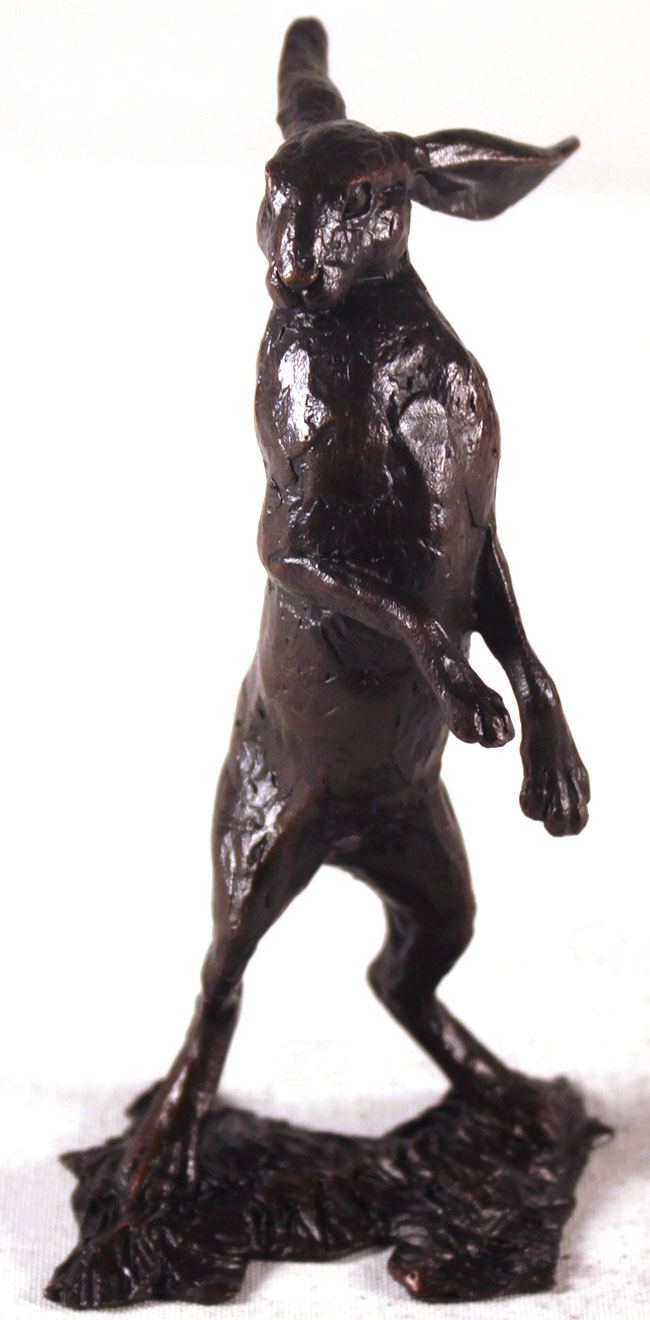 Michael Simpson, Bronze, Small Hare Standing, click to enlarge