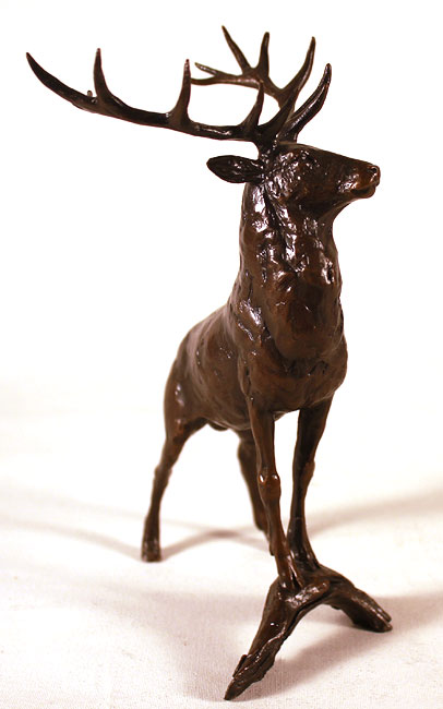 Michael Simpson, Bronze, Regal Stag Without frame image. Click to enlarge