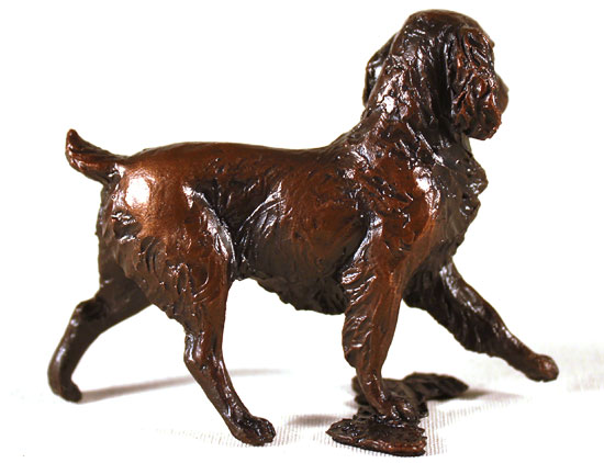 Michael Simpson, Bronze, Small Springer Spaniel Without frame image. Click to enlarge