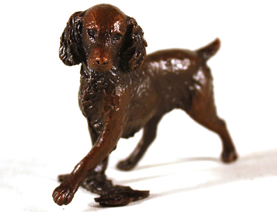 Michael Simpson, Bronze, Small Springer Spaniel Signature image. Click to enlarge