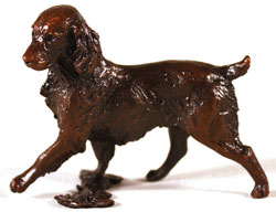Michael Simpson, Bronze, Small Springer Spaniel Large image. Click to enlarge