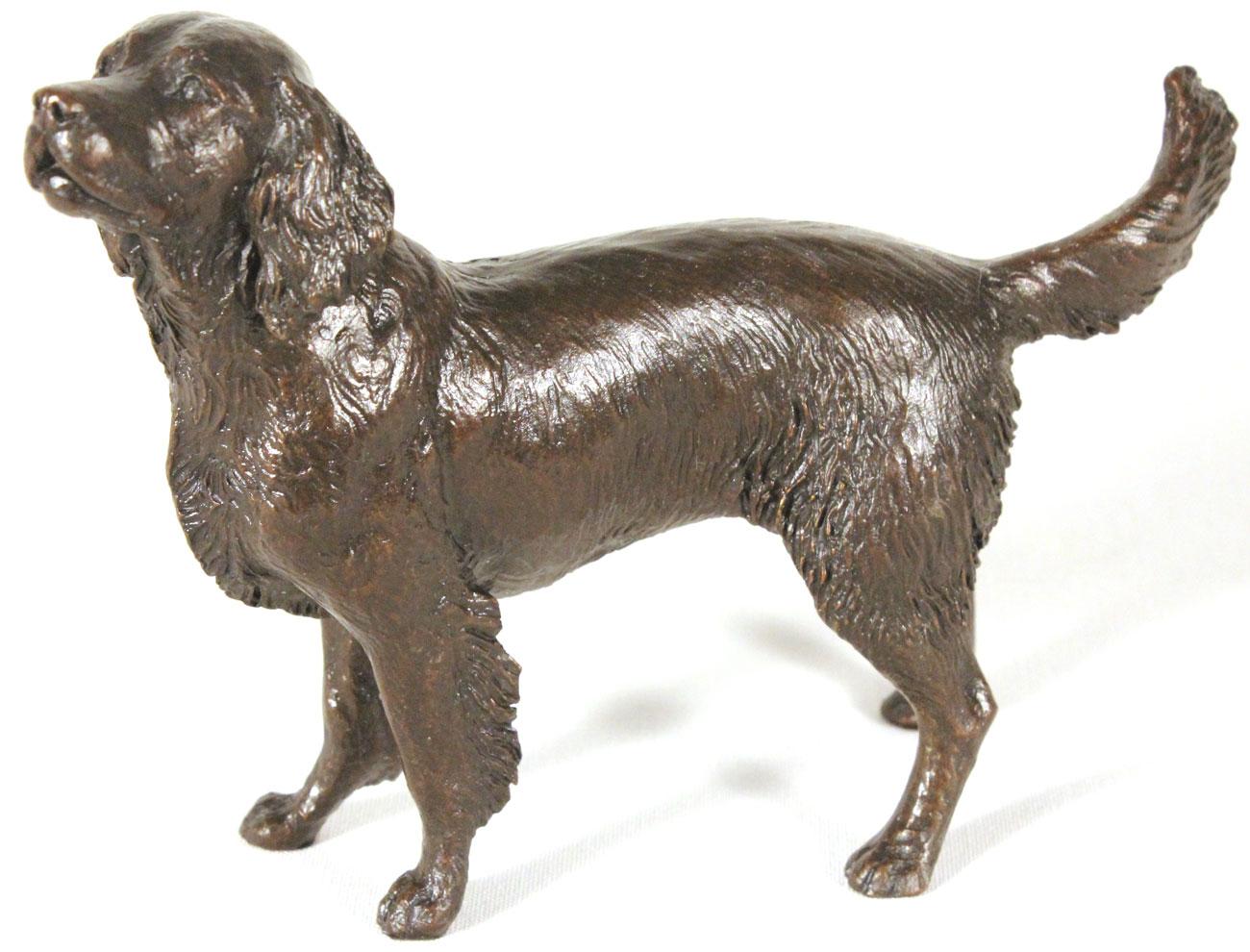 Michael Simpson, Bronze, Medium Springer Spaniel Standing, click to enlarge