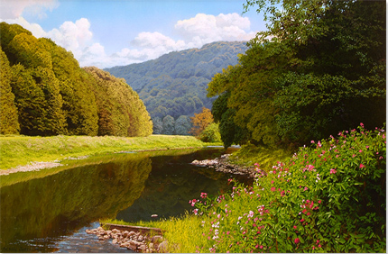 Michael James Smith, Signed limited edition print, River Wye, Wales No frame image. Click to enlarge