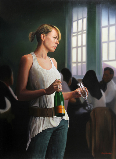 Michael James Smith, Original oil painting on canvas, Unsocial Networking