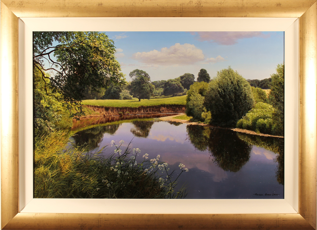 Michael James Smith, Original oil painting on canvas, The river Wye, Wales. Click to enlarge