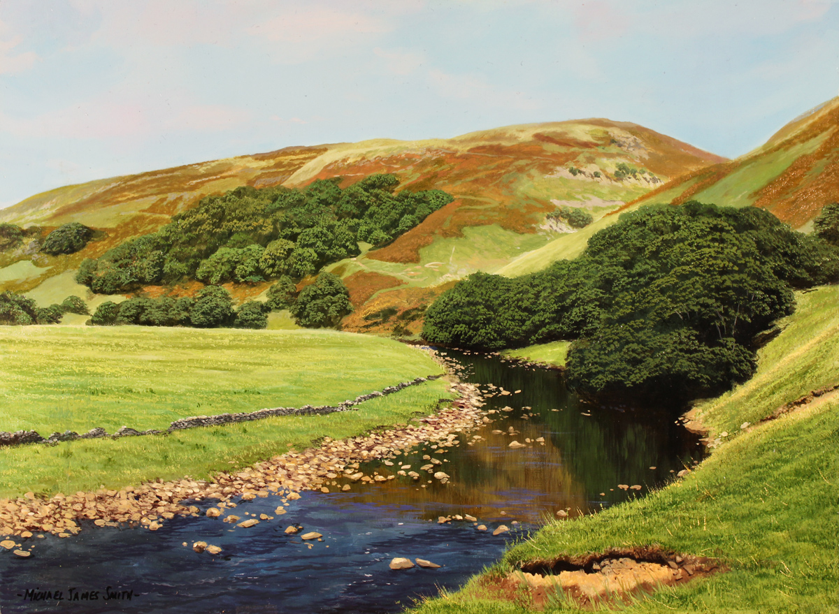 Michael james smith the river usk enlarge page art for Michael james smith paintings