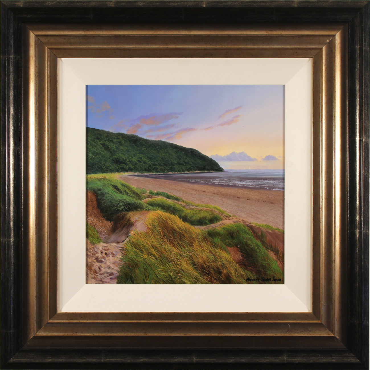 Michael James Smith, Original oil painting on panel, Cornelian Bay, North Yorkshire, click to enlarge