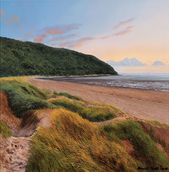 Michael James Smith, Original oil painting on panel, Cornelian Bay, North Yorkshire