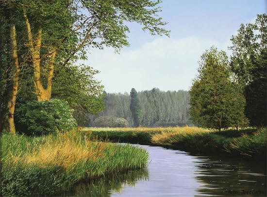 Michael james smith original oil painting on panel river for Michael james smith paintings