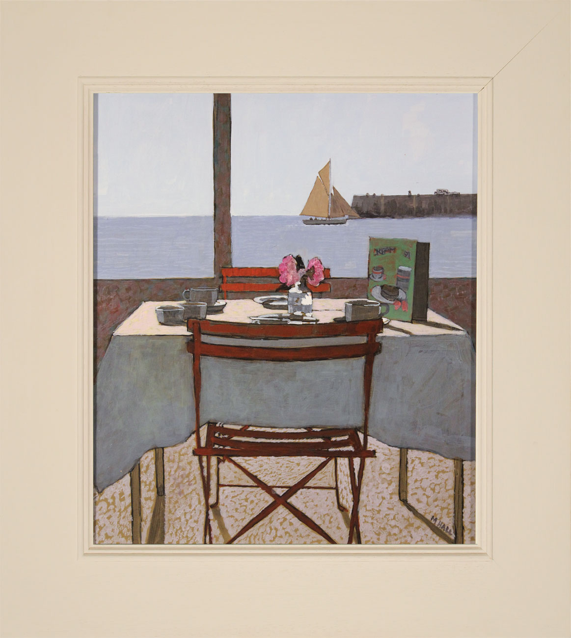 Mike Hall, Original acrylic painting on board, View from the Dining Table, click to enlarge