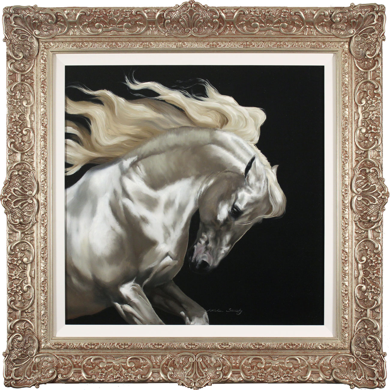 Natalie Stutely, Original oil painting on panel, Andalusian, click to enlarge