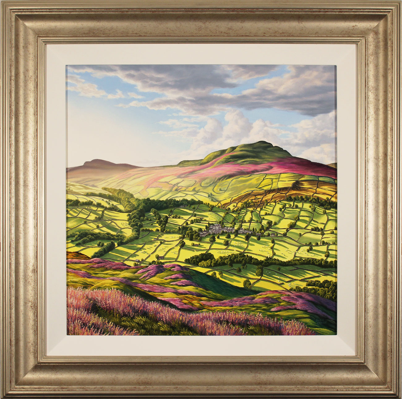 Suzie Emery, Original acrylic painting on board, Yorkshire Glory, click to enlarge