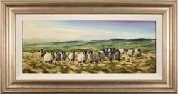 Natalie Stutely, Original oil painting on panel, Swaledale Flock in the Cleveland Way Large image. Click to enlarge