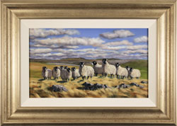 Natalie Stutely, Original oil painting on panel, Flock to Penyghent Large image. Click to enlarge