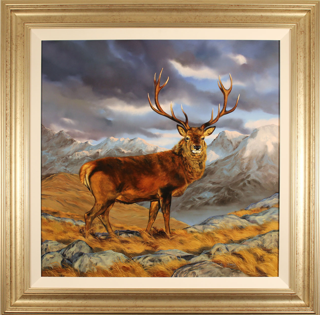 Natalie Stutely, Original oil painting on panel, Glen Etive, Rannoch Moor. Click to enlarge