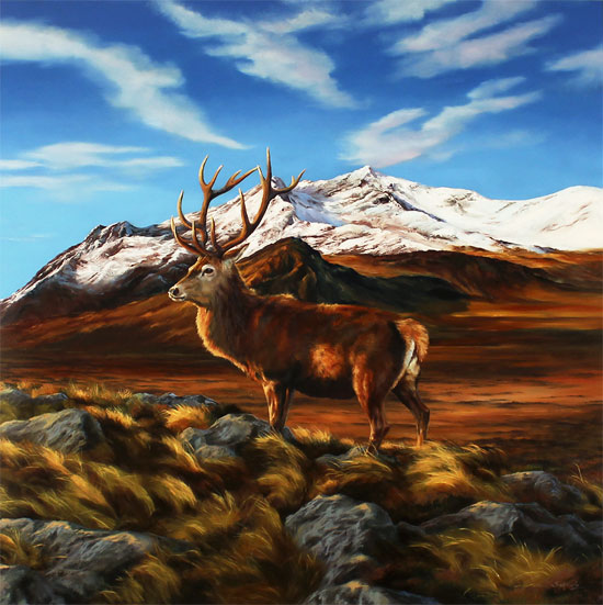 Natalie Stutely, Original oil painting on panel, Glen Sligachan, Isle of Skye Without frame image. Click to enlarge