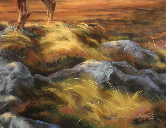 Natalie Stutely, Original oil painting on panel, Glen Sligachan, Isle of Skye Signature image. Click to enlarge