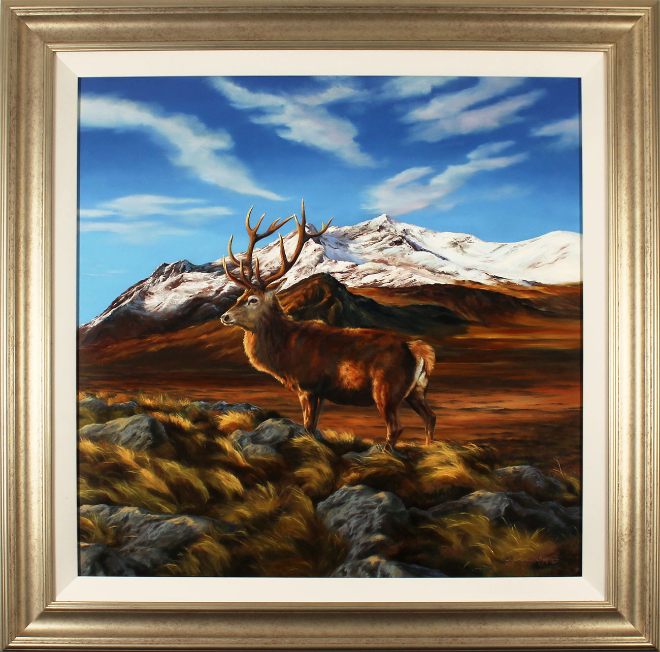 Natalie Stutely, Original oil painting on panel, Glen Sligachan, Isle of Skye. Click to enlarge