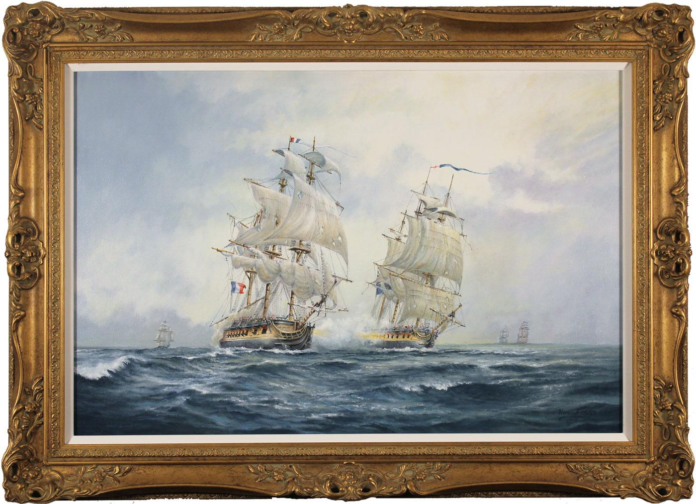 Neil Foggo, Original oil painting on canvas, A Full Broadside, click to enlarge