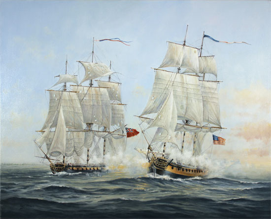 Neil Foggo, Original oil painting on canvas, A Battle Joined Without frame image. Click to enlarge