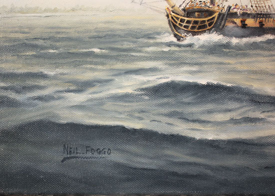 Neil Foggo, Original oil painting on canvas, A Battle Joined Signature image. Click to enlarge