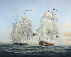 Neil Foggo, Original oil painting on canvas, A Battle Joined Large image. Click to enlarge
