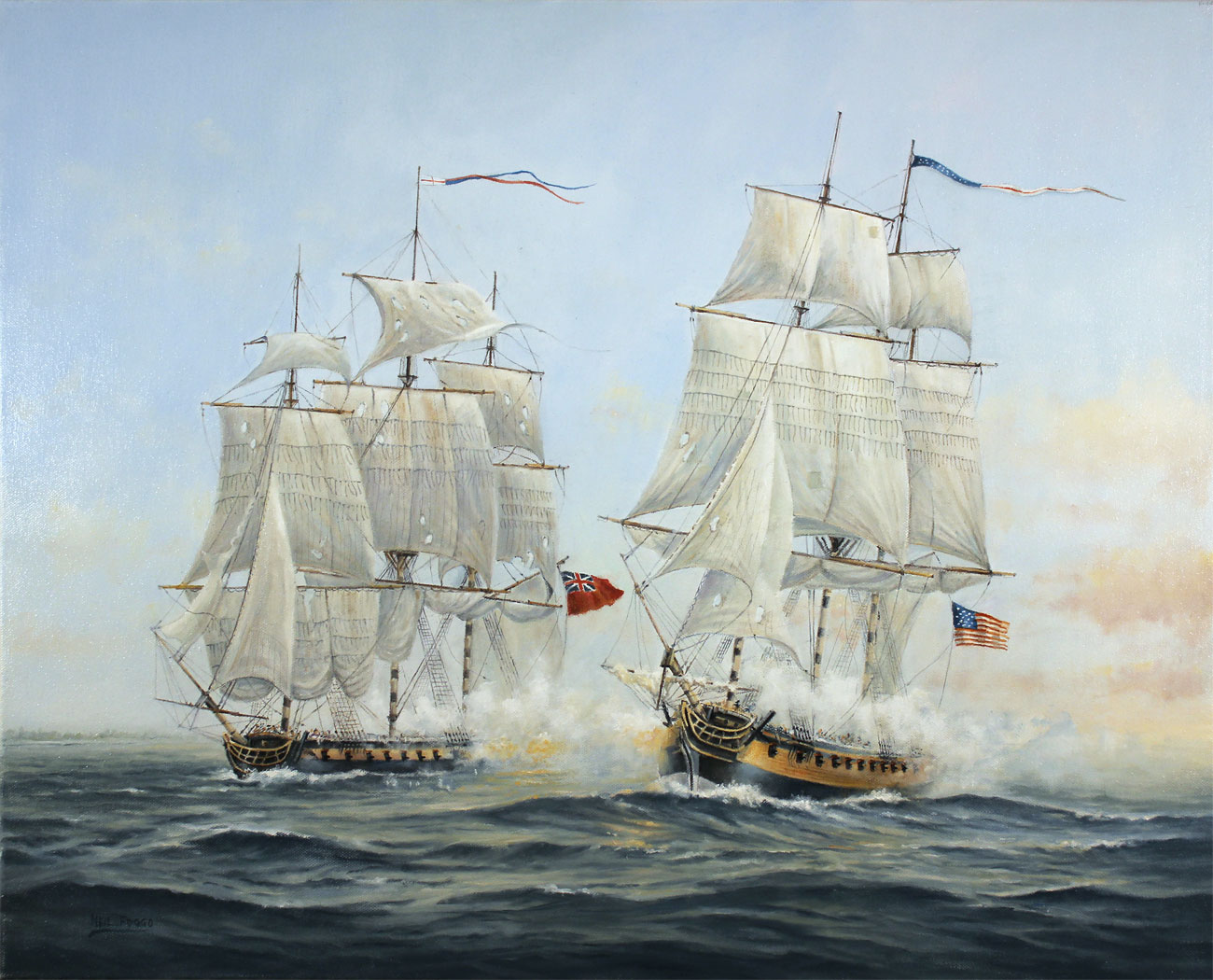 Neil Foggo, Original oil painting on canvas, A Battle Joined. Click to enlarge
