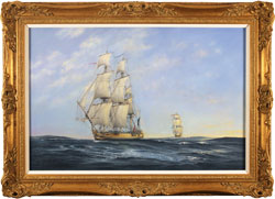 Neil Foggo, Original oil painting on canvas, Hermione Makes Her Escape Large image. Click to enlarge