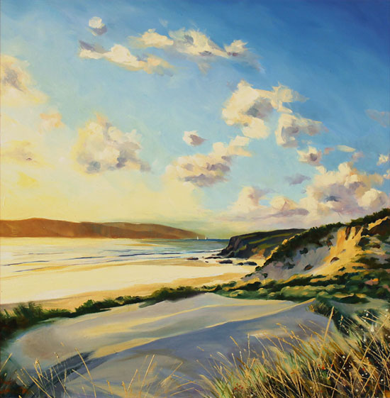 Paul Lancaster, Original oil painting on panel, Soft Sands Without frame image. Click to enlarge