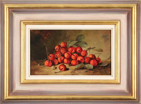 Paul Wilson, Original oil painting on panel, Handpicked Cherries