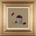 Paul Wilson, Original oil painting on panel, Cherries Large image. Click to enlarge