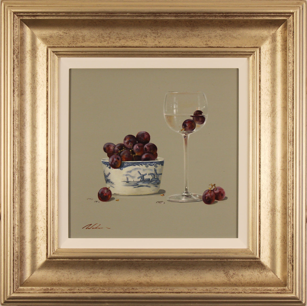 Paul Wilson, Original oil painting on panel, Grapes. Click to enlarge