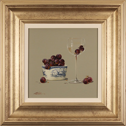 Paul Wilson, Original oil painting on panel, Grapes Large image. Click to enlarge