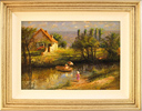 Paul Attfield, Original oil painting on panel, Across the Stream