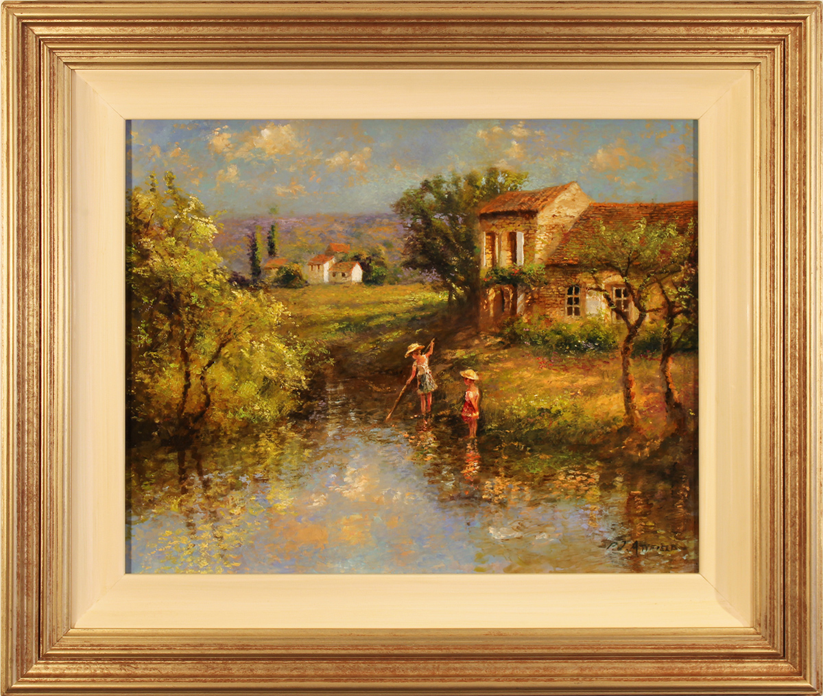 Paul Attfield, Original oil painting on panel, Child's Play, click to enlarge