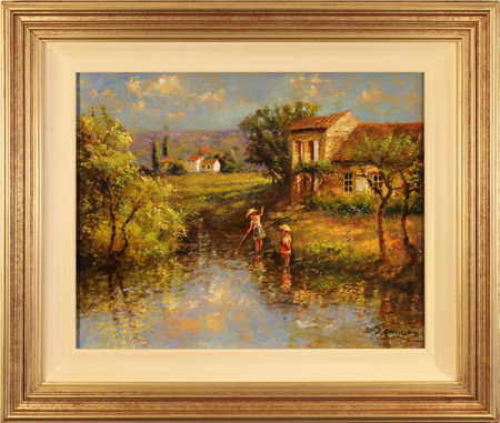 Paul Attfield, Original oil painting on panel, Child's Play