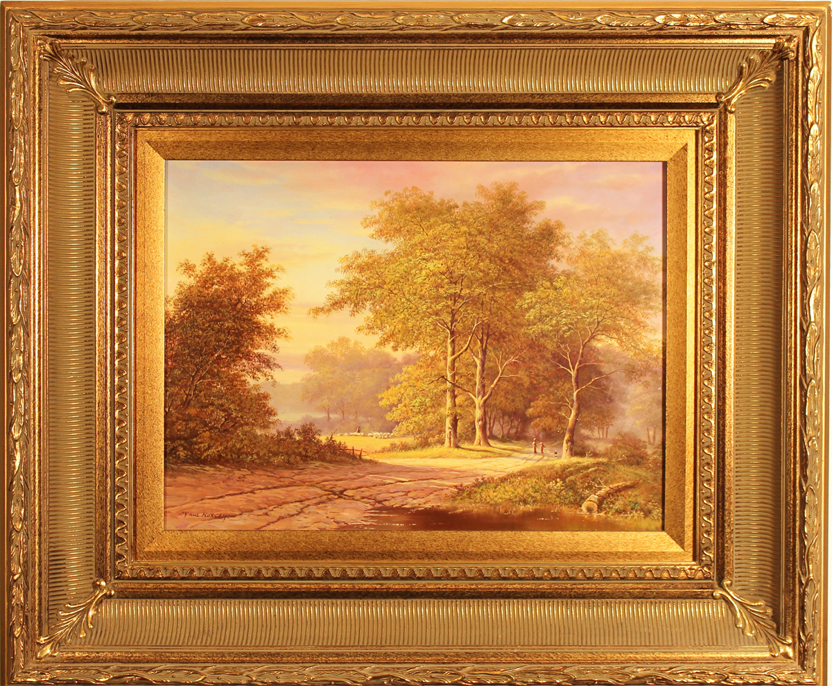 Paul Morgan, Original oil painting on panel, Autumnal Landscape, click to enlarge