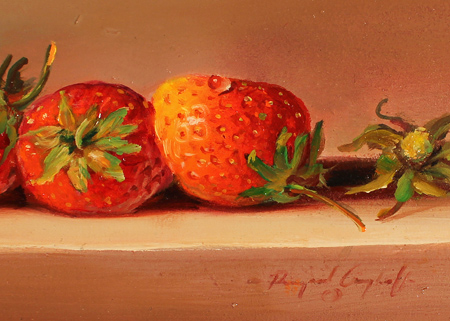 Paul Wilson, Original oil painting on panel, Strawberries Signature image. Click to enlarge