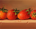 Paul Wilson, Original oil painting on panel, Strawberries Large image. Click to enlarge